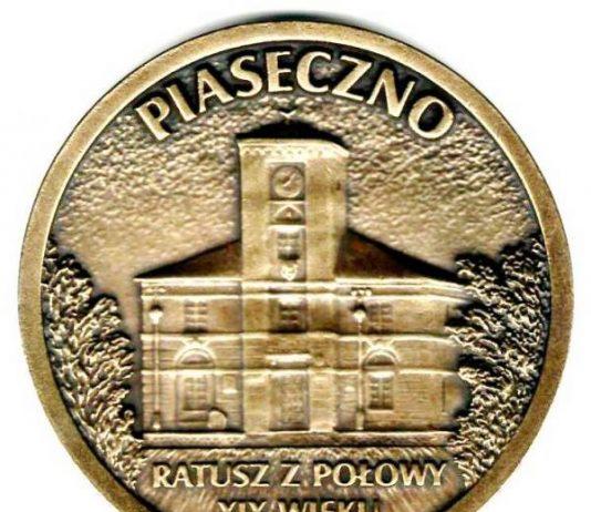 Rewers - medalu z okazji 580 rocznicy nadania praw miejskich dla Piaseczna