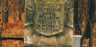Obelisk w miejscu rozstrzelania 97. więźniów Pawiaka