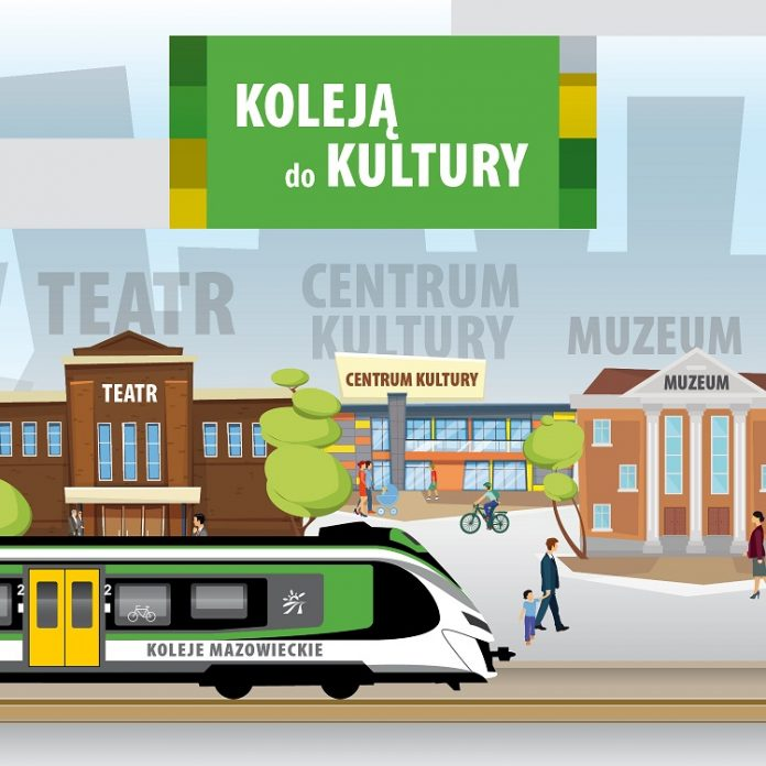 Koleją do kultury - plakat