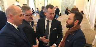 Wiceburmistrz Daniel Putkiewicz oraz Zastępca Prezydenta m.st. Warszawy - Michał Olszewski