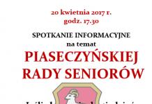Piaseczyńska Rada Seniorów - plakat