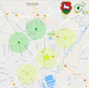 mapa czujników