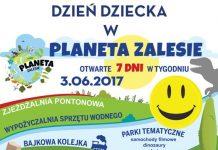 plakat imprezy Dzień Dziecka w Planecie Zalesie