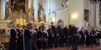 Chór Zalesiańskiego Towarzystwa Śpiewaczego na konkursie w Ejszyszkach na Litwie