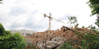 rozbiórka budynku przy ul.Jerozolimskiej