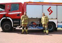 strażacy z darami