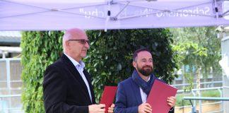 podpisanie porozumienia w sprawie schroniska na Paluchu