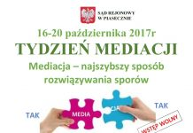 tydzień mediacji plakat