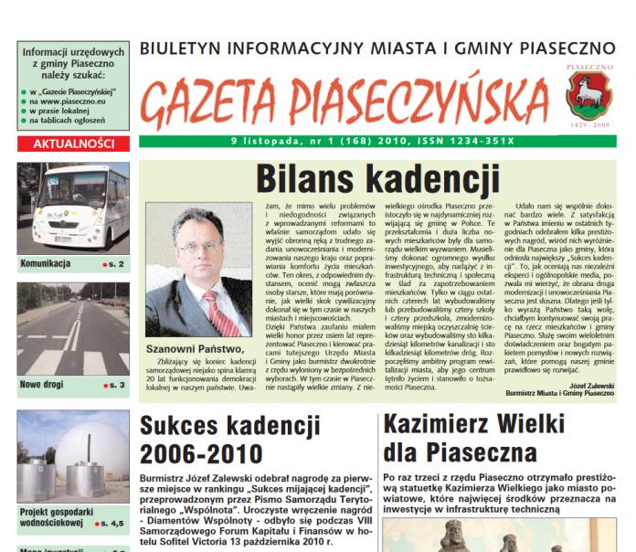 Gazeta Piaseczyńska 2010