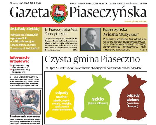 Gazeta Piaseczyńska 4/2013