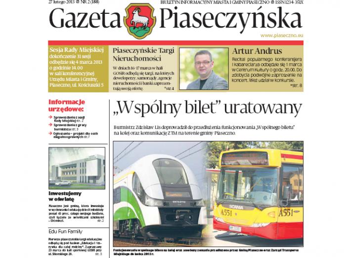 Gazeta Piaseczyńska 2/2013