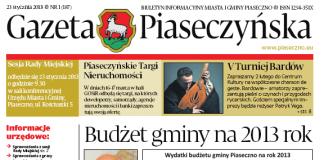 Gazeta Piaseczyńska 1/2013
