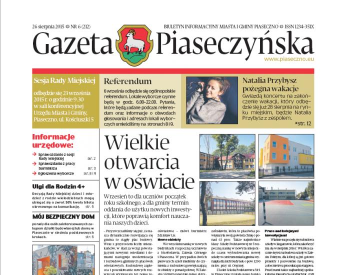 Gazeta Piaseczyńska 6/2015