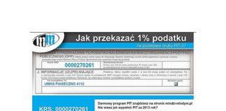 1% dla UKMS Piaseczno