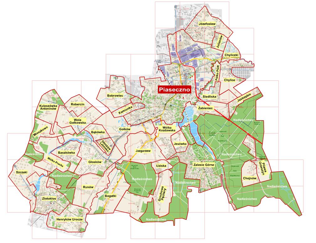 Mapa sołectw