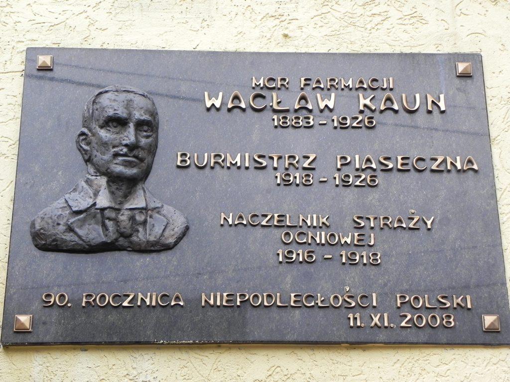 Tablica ku czci Wacława Kauna, foto Piotr Prawucki, 22 IX 2017 r.