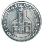 Rewers - medalu z okazji 570 rocznicy nadania praw miejskich dla Piaseczna