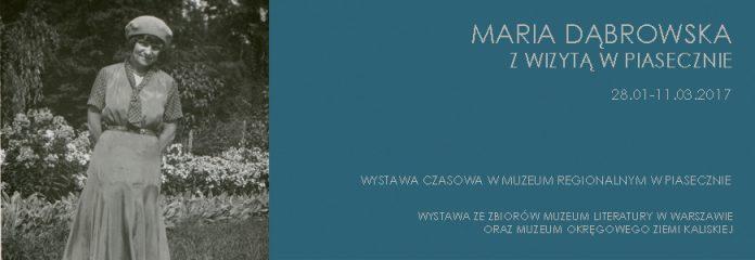 Maria Dąbrowska z wizytą w Piasecznie