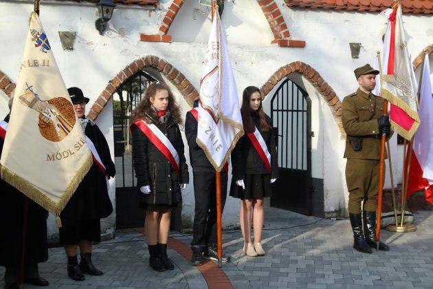 Uroczystość przy tablicy pamiątkowej przy kościele św. Anny