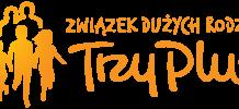 """Logo Związku Dużych Rodzin """"Trzy Plus"""""""