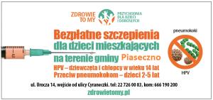 plakat - szczepienia dla dzieci