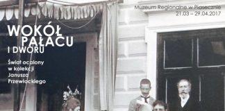 """plakat wystawy """"Wokół pałacu i dworu"""""""
