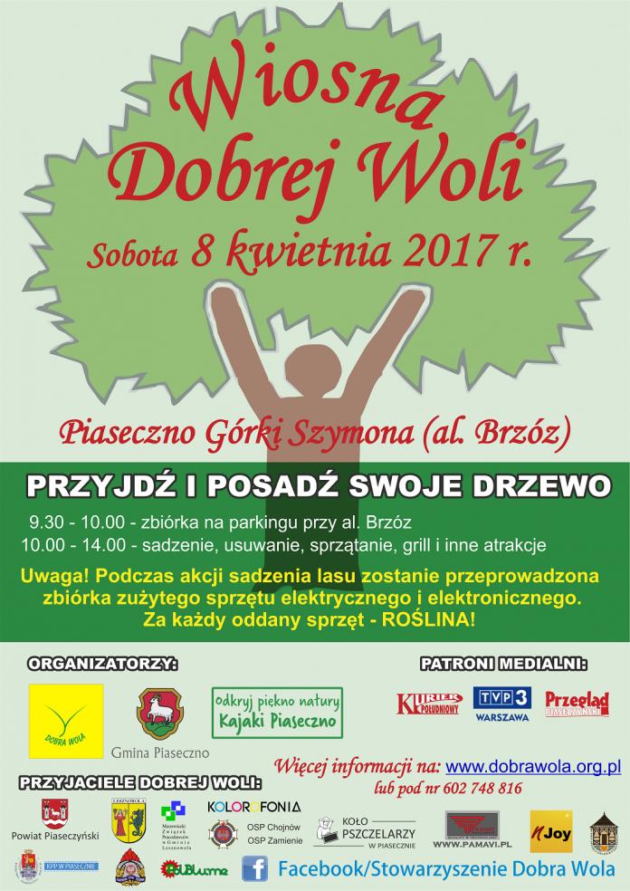 sadzenie lasu 2017 -plakat