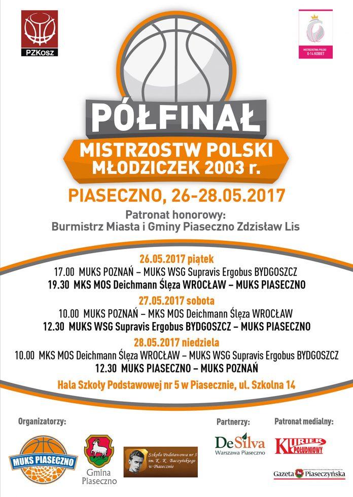 Półfinał Mistrzostw Polski Młodziczek U-14 K w koszykówce