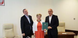 od lewej Wiesław Raboszuk, Elżbieta Lanc, Zdzisław Lis