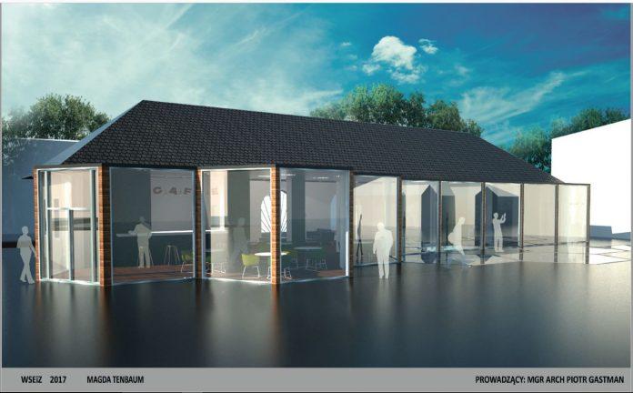 koncepcja budynku dawnej strażnicy OSP Piaseczno