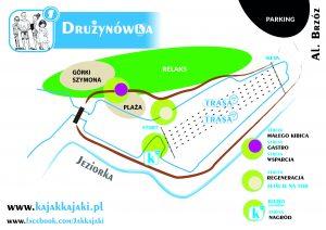 mapka informacyjna impreza kajakowa