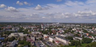 Widok z góry na Piaseczno