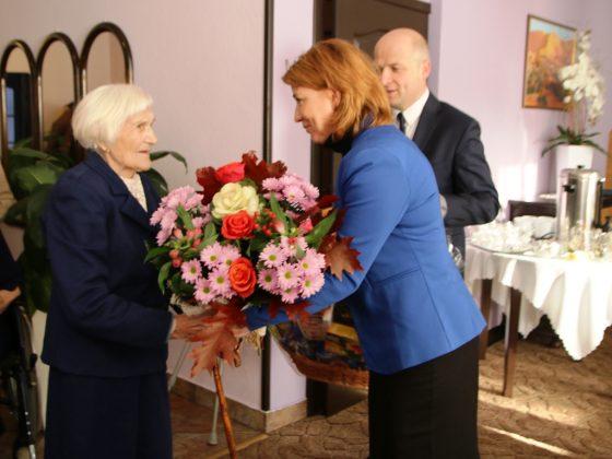 100. urodziny mieszkanki Zalesia Dolnego pani Marty