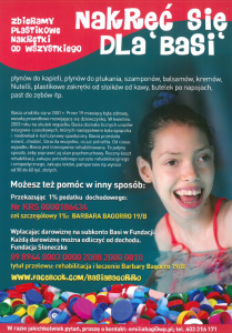 nakręć się dla Basi - plakat