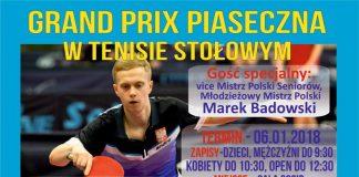 Grand Prix Piaseczna w tenisie stołowym 06.01.2018