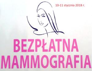 Bezpłatna mammografia 10-11 stycznia
