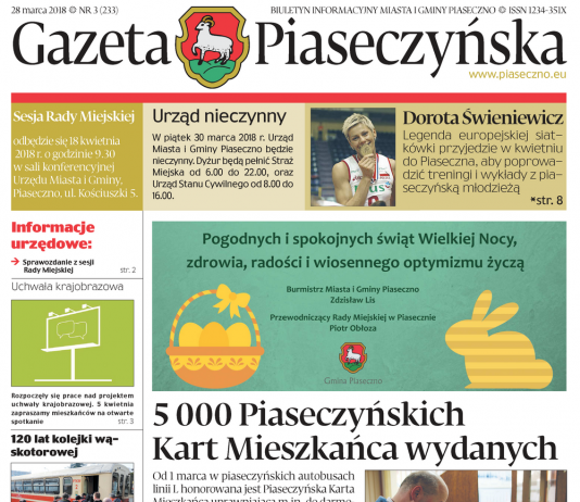 Gazeta Piaseczyńska nr 3/2018