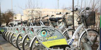 stacja rowerów przy sądzie w Piasecznie