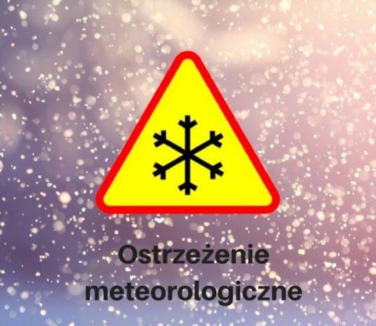 Ostrzeżenie opady śniegu