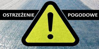 Ilustracja. Ostrzeżenie - spadek temperatury powodujący oblodzenie nawierzchni dróg i chodników