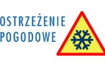 Ostrzeżenie meteorologiczne - opady śniegu, zawieje śnieżne