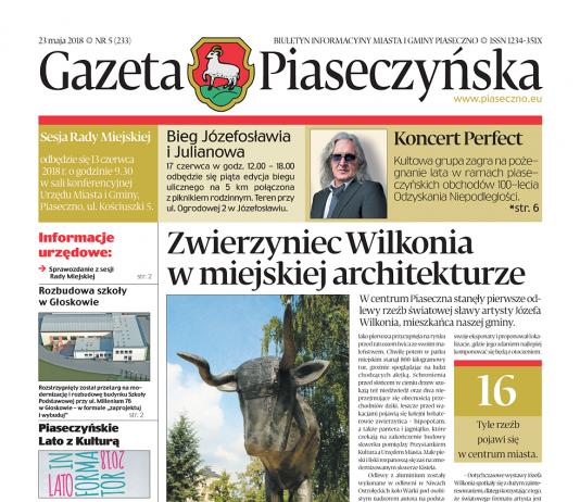 Gazeta Piaseczyńska nr 5/2018