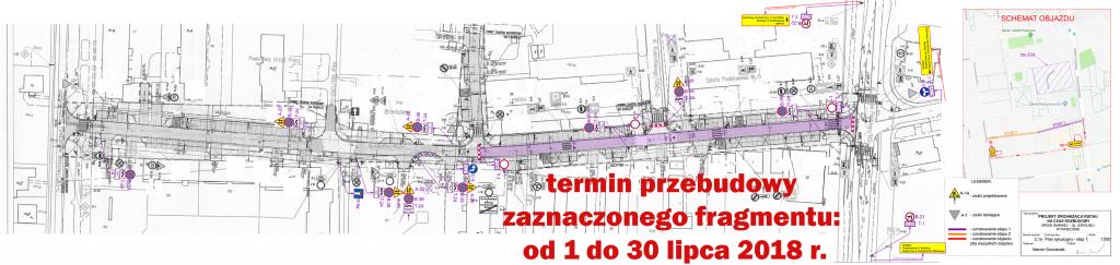 Przebudowa ul. Szkolnej w Piasecznie (etap 1) - termin od 1 do 30 lipca 2018 r.