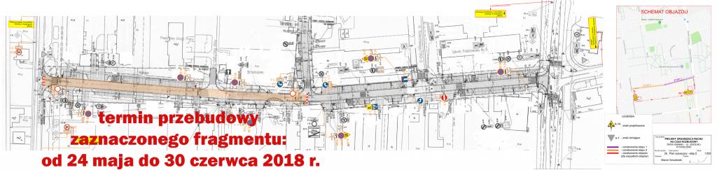 Przebudowa ul. Szkolnej w Piasecznie (etap 2) - termin od 24 maja do 30 czerwca 2018 r.