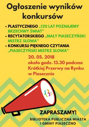 Ogłoszenie wyników konkursów organizowanych przez Bibliotekę