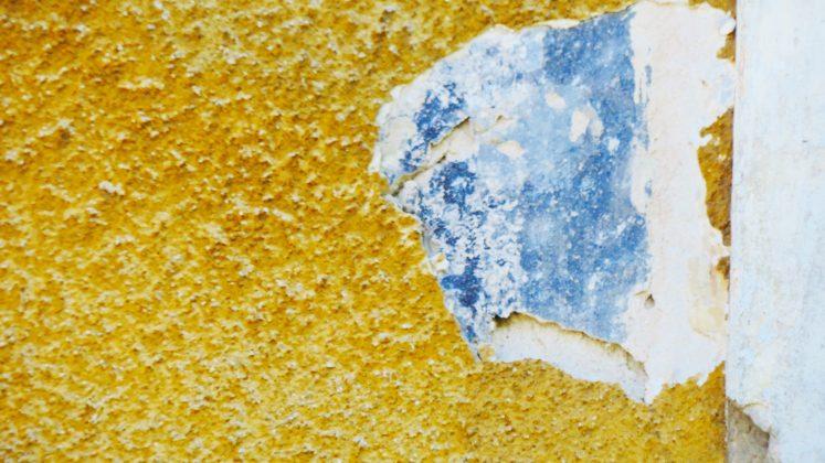 Odkryte malowidło na ścianie z XVIII wieku – fot: M.S.