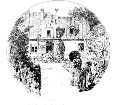 Rycina przedstawiająca Poniatówkę z 1896. roku – Biesiada Literacka
