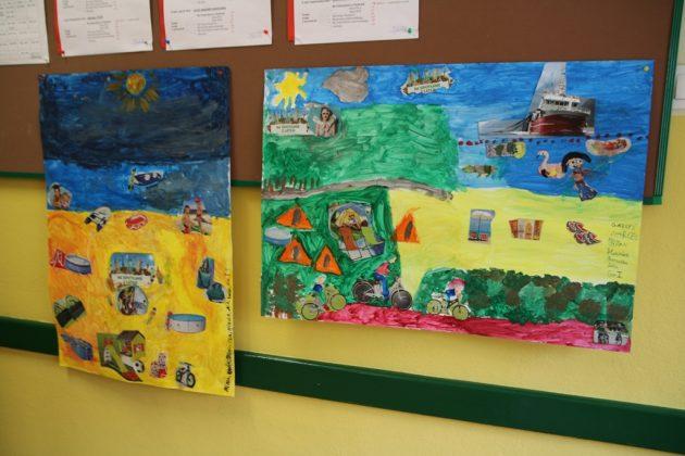 Lato w mieście - zajęcia plastyczne w szkole w Chylicach. Foto: Małgorzata Idaczek