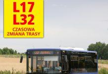 Czasowa zmiana trasy linii L17 i L32