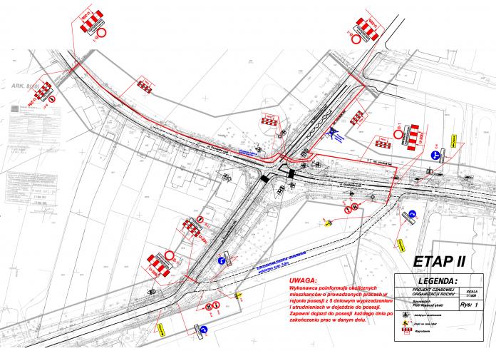 Zamknięcie skrzyżowania Geodetów - Wilanowska